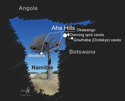 Namibie carte avril 2016