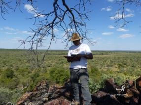 Namibie, Aha Hills, au sommet de la colline du Babouin (c) M. Jarry