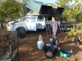 Namibie, Aha Hills, camp au pied de la colline du Léopard (c) M. Jarry