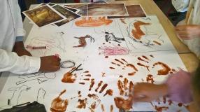Séance artistique inspiration préhistoire (c)GAAMA