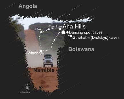 Namibie carte décembre 2016