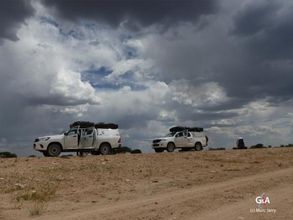 Namibie, sur la route des Aha Hills (c) M. Jarry.