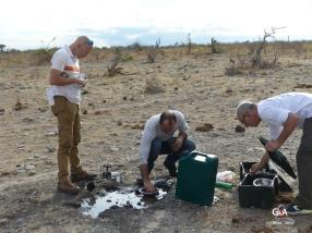 Namibie, pan des éléphants, cuisine équipée (c) M. Jarry.