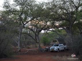 Botswana, Aha Dancing spot, campement (c) L. Bruxelles.