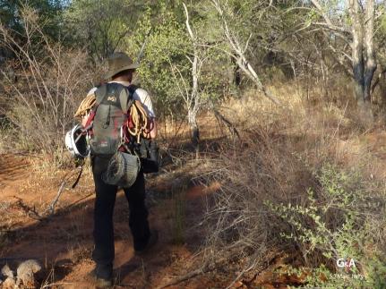 Botswana, vers le gouffre de Waxhu North (c) M. Jarry.