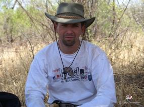 Botswana, Greg à la pause (c) F. Duranthon.