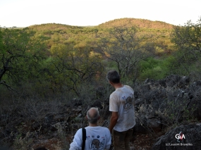 Botswana, balade vespérale jusqu'au gouffre de Waxhu South proche du camp et exploré en avril (c) L. Bruxelles.