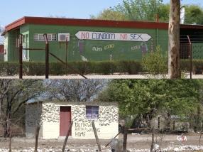 Retour en Namibie, bâtiments publiques de Tsumke, dernier ravitaillement avant les Aha HIlls namibiennes (c) F. Duranthon.