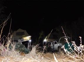 Namibe, Aha Hills, loin... Notre camp de base (c) M. Jarry.