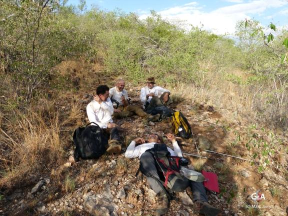Namibie, Aha Hills. Pause... (c) M. Jarry