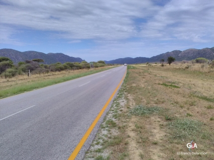 Namibie, secteur d'Otavi. Prochain terrain d'étude (c) F. Duranthon.
