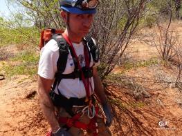 Botswana, Waxhu North, préparation et vérification du matériel (c) F. Duranthon.