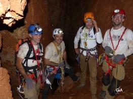 Botswana, gouffre de Waxhu North. L'équipe dans le gouffre (c) W. Japhet