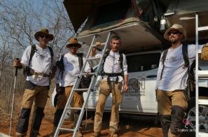 L'équipe au camp du paléokarst (c) M. Jarry