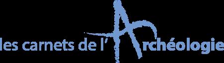 Logo carnet archéo bleu