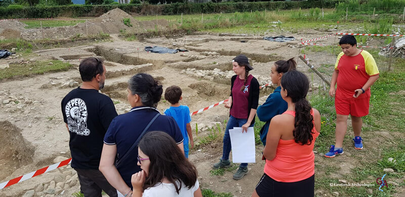 Camille Thabard chez Grottes&Archéologies en médiation à Saint-Just de Valcabrère